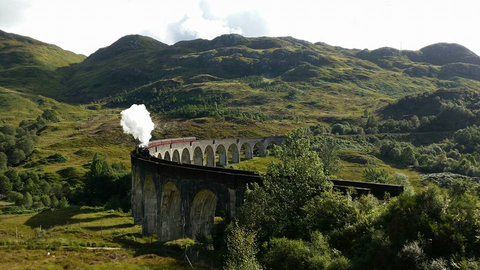 Jacobite Steam train over the Glenfinnan viaduct - or might it be the Hogwarts Express?