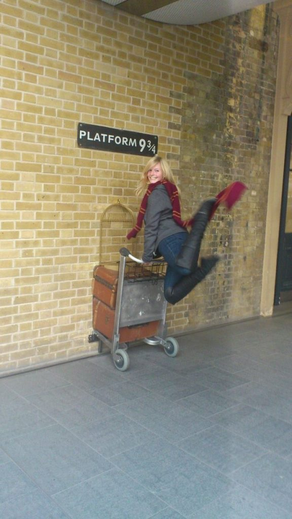On my way to the Hogwarts Express!