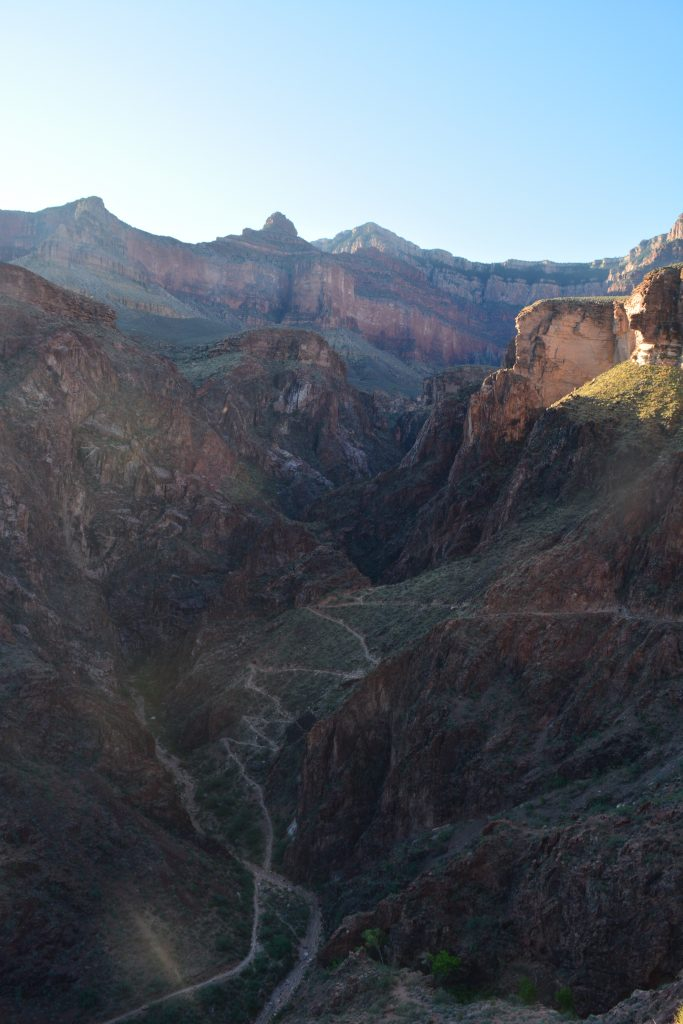 Switchbacks out of the Inner Gorge.