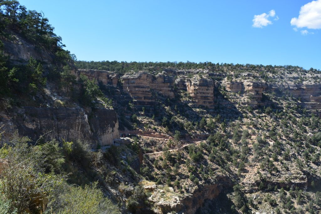 The last switchbacks out of the Grand Canyon...