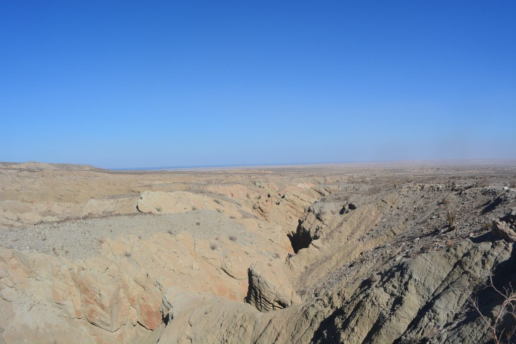 Small part of the badland structure